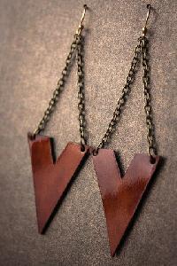 Ladies Leather Earrings 02