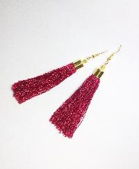 Silk Thread Tassel Earrings