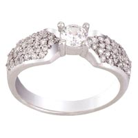 Ladies Silver Ring (SR014)