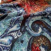 Digital Printed Wool Shawl 01