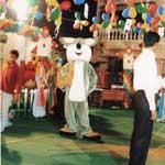 Birthday Party Mascot Arrangement