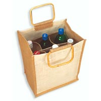 Jute Wine Bottle Bag - 01