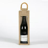 Jute Wine Bottle Bag - 02