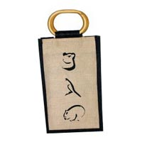 Jute Wine Bottle Bag - 04