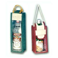 Jute Wine Bottle Bag - 05