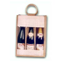 Jute Wine Bottle Bag - 06