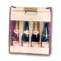 Jute Wine Bottle Bag - 07