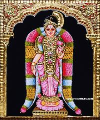 Andal Tanjore Painting (10019)
