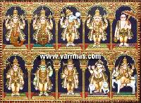 Dasavatharam Tanjore Painting (10134)