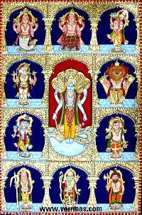 Dasavatharam Tanjore Painting (10135)