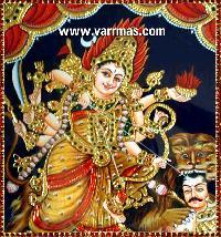 Durga Tanjore Painting (10207)