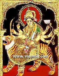Durga Tanjore Painting (10209)