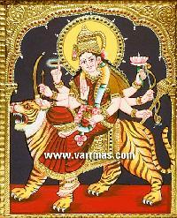 Durga Tanjore Painting (10213)