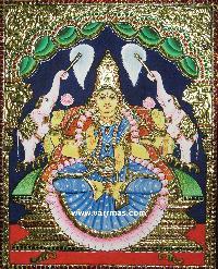 Gajalakshmi Tanjore Painting (10071)