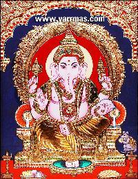 Ganesha Tanjore Painting (10266)