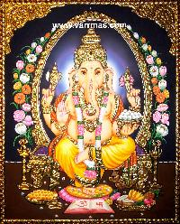 Ganesha Tanjore Painting (10270)