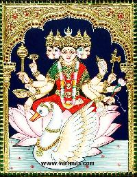 Gayathri Tanjore Painting (10320)