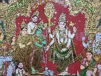 Girija Kalyanam Tanjore Painting (10866)