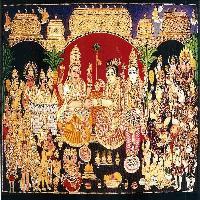 Girija Kalyanam Tanjore Painting (10867)