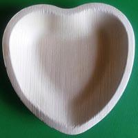 Heart Shaped Areca Leaf Bowls