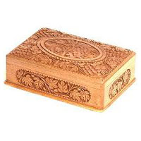 Wood Carved Cigar Box