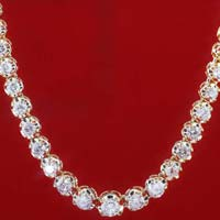 Diamond Solitaire String Necklace (CWDBGR001)
