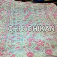Chikan Embroidered Georgette Saree
