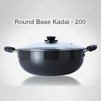 Hard Anodised Round Base Kadai