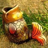 Terracotta Fish Shaped Planter