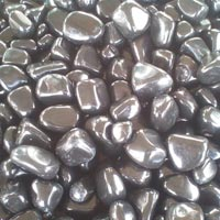 Agate Stone Black Tumbled