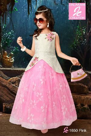 1650 Pink Girls Party Wear Dress