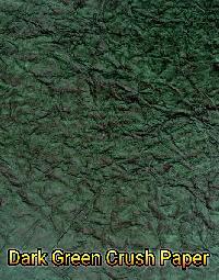 Dark Green Crush Paper