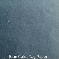 Blue Color Tag Paper