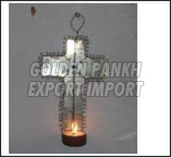 Handmade Wirework Cross Tea Light Candle