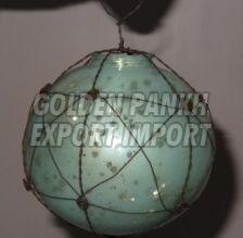 Handmade Wirework Mercury Glass Ornament