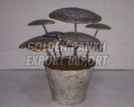 Handmade Mushroom Statue