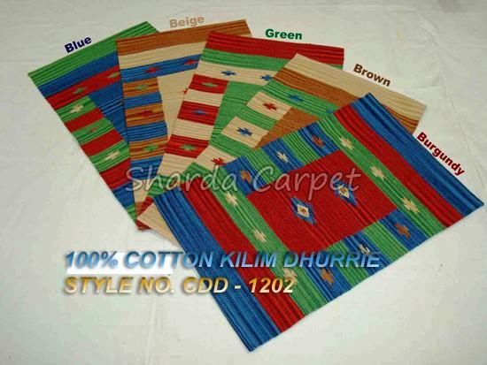 Cotton Kilim Dhurries