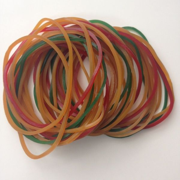 100% Assorted Color Rubber Bands 03