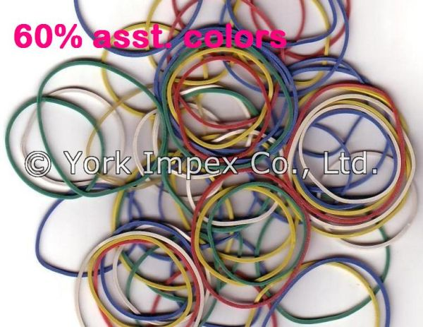 60% Assorted Color Rubber Bands 02