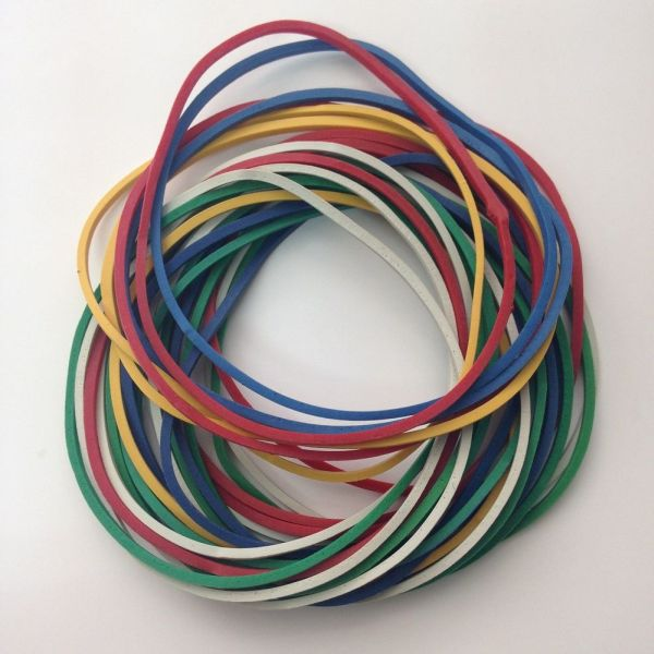 60% Assorted Color Rubber Bands 13