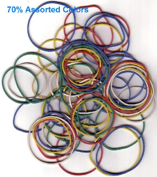 70% Assorted Color Rubber Bands 01