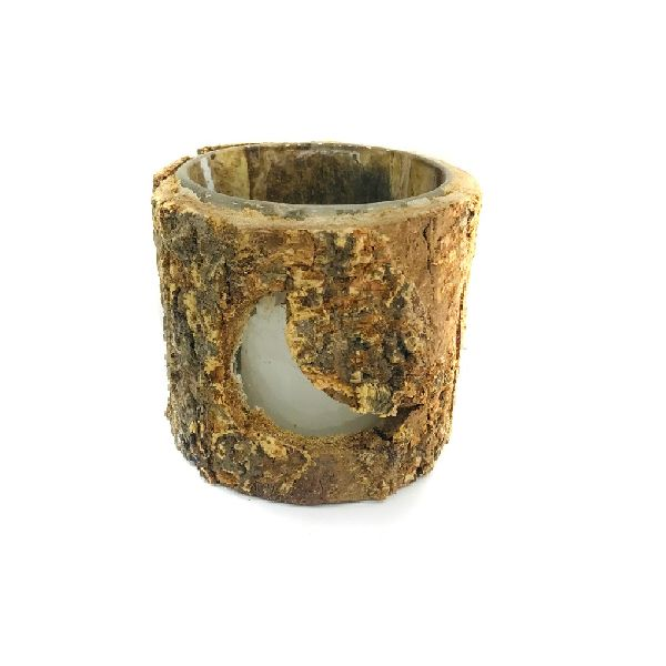 Wood Bark Candle 02