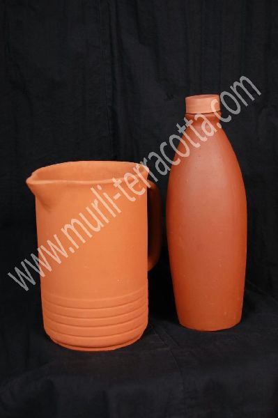 Terracotta Bottle And Jug