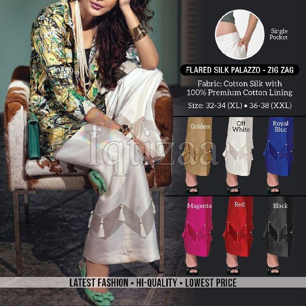 Flared Silk Palazzo