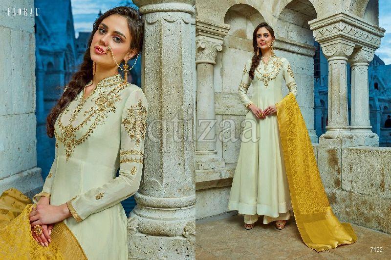 7455 - Floral Salwar Suit