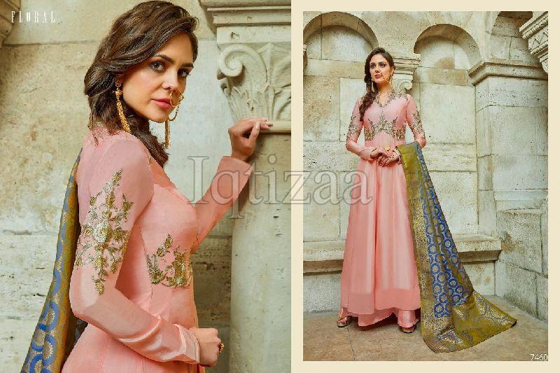 7460 - Floral Salwar Suit
