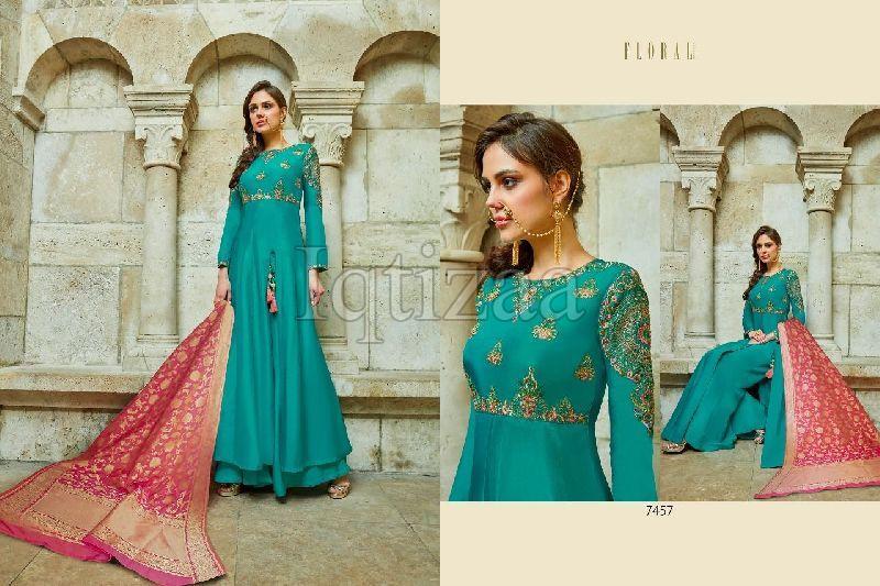 7457 - Floral Salwar Suit