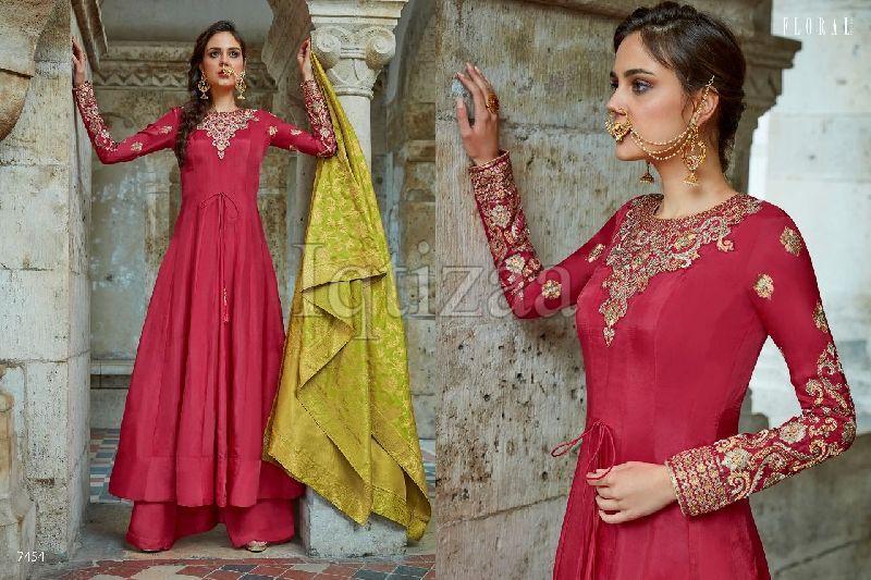 7454 - Floral Salwar Suit