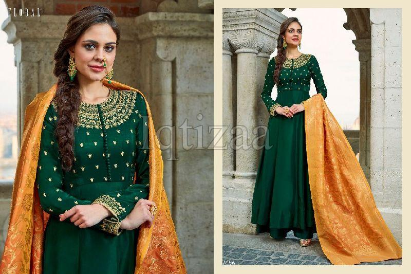 7456 - Floral Salwar Suit