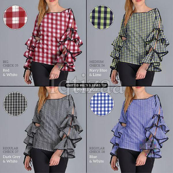 Knotted Multi Sleeves Top 04
